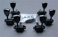 Guitar Parts WILKINSON Vintage Tulip Style - 3 Per Side 3x3 - TUNERS SET - BLACK