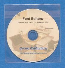 Font Editor s for Linux, UNIX, Windows/DOS, Macintosh