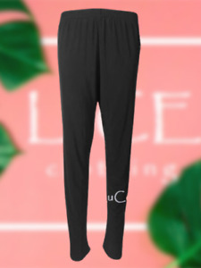 NEW Womens Soft Touch Straight Trousers Elasticated Waist Tapered Ladies Pants