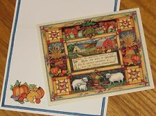 Harvest Home Susan Winget Art 1993 Lang Graphics Note Cards 3ct
