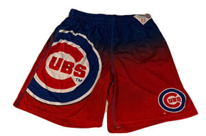 MLB Brand Chicago Cubs Big Logo Training Shorts Mens Large With Pockets