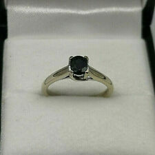 18ct White Gold Oval Sapphire Solitaire Ring.  Goldmine Jewellers.