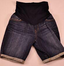 Women's Liz Lange maternity denim shorts size small cotton mix five pocket