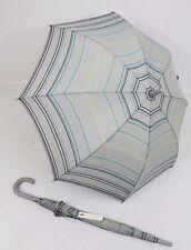 ESPRIT grau gestreifter Regenschirm Stockschirm   Langschirm für Damen