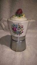 Rara caffettiera design in ceramica con tappo a FIORE - rare COFFEE MAKER