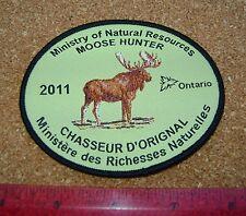 2011 ONTARIO MNR MOOSE HUNTING PATCH badge,flash,crest,deer,bear,elk,Canadian