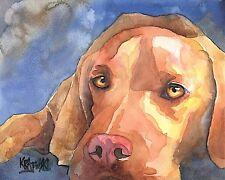 Vizsla Dog 11x14 signed art PRINT RJK painting