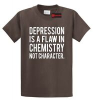 Depression Flaw Chemistry Not Character T Shirt Mental Health Awareness Tee