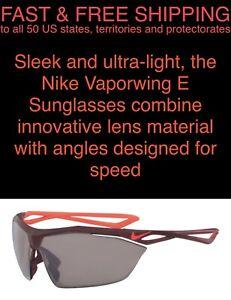 FREE SHIPPING New Nike Vaporwing Sports Glasses Sunglasses Unisex Matte Burgundy