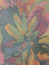 Vintage Cotton Abstract Flowers tapestry upholstery fabric