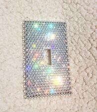 Single bling Rhinestone Light Switch Cover Plate Toggle Made W SWAROVSKI Crystal