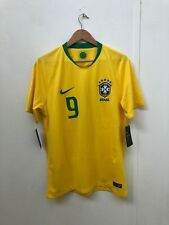 Nike Brazil Football Men's Home World Cup 2018 Shirt - Medium - G.Jesus 9 - New