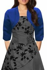 Satin Patternless Formal Plus Size Coats & Jackets for Women
