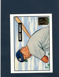 1951 Bowman Mickey Mantle RC Gold Seal Reprint from 1996 Topps