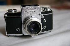 Vintage German camera Exakta Varex IIA Ihagee Carl Zeiss Jena Tessar 2.8/50 lens