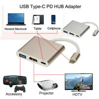 Type C To 4K HDMI USB 3.0 Charging HUB Adapter USB-C 3.1 Converter For Macbook L