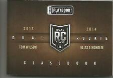 2013-14 Panini Playbook Dual Rookie Classbook Tom Wilson-Elias Lindholm #DR-WL