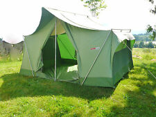 "Canvas Tent Coleman Oasis 2 Door 13' X 10' X 7' 9"" Tall Sleeps 8 Aluminum Poles"