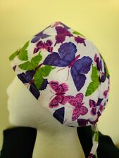 Purple Butterflies - Surgical Scrub Hat - Unisex