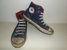 Converse all star Chuck sneaker baskets High taylor tissu jeans taille 305/36