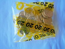 2017 AUSTRALIAN BAG OF 1 DOLLAR (20) MOB OF ROOS COINS, UNC. IN BANK BAG