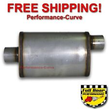 "3"" O/C Performance Exhaust Muffler High Flow MAX FLOW Stainless Steel 4x9 MF1229"