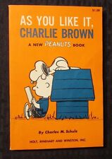 1964 AS YOU LIKE IT Charlie Brown by Schulz SC VF+ 1st Holt Reinhart