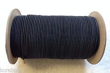 """1/8"""" X 500 FT Bungee Cord Shock Cord Bungie Cord Marine Grade Made in USA!!! BLK"""