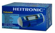 HEITRONIC Schrittzähler blau mit LED-Taschenlampe, Nottfallsirene