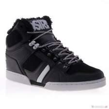 Mens Osiris NYC 83 SHR Rare Size 9 Mid Skateboarding Skate Black Grey Fur EUR 42