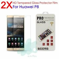 2Pcs 9H Premium Tempered Glass Film Cover Screen Protector For Huawei P8