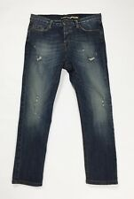 Please jeans donna skinny M W28 tg 42 vita bassa cavallo basso destroyed T3400