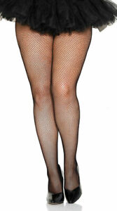 Queen Womens Plus Size Classic Seamless Fishnet Pantyhose, Plus Size Fishnets