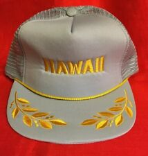 HAWAII Trucker Gray/Yellow Snapback Mesh Back Foam Front Scrambled Eggs & Braid