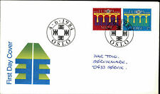 Enveloppe FDC Norvège Norge forstedags BREV 1984 cachet spécial OSLO NORWAY