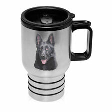 German Shepherd Black Stainless Steel 16oz Tumbler