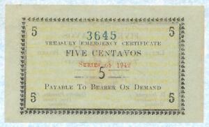 PHILIPPINES Leyte 5 Centavos 1942 S391 AU