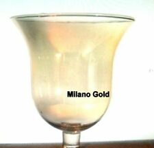 Home Interiors Gold Milano Bell Votive cup w/ rubber grommet