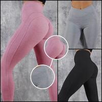 New Women Push Up Yoga Leggings High Waist Gym Sports Pants Running Trousers