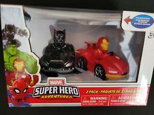 Marvel Super Hero Black Panthers Iron Man Vehicle Set FigurinesRace Cars
