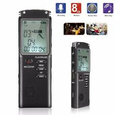 Digital Portátil Grabadora De Voz 8GB Grabador De Audio Reproductor De MP3 USB