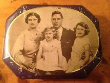 Mackintosh Assortment Deluxe Vintage English metal tin-Royal Family King George