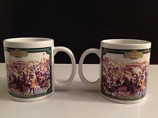SALE!  Set of 2 Houston Foods Currier and Ives Central Park Winter 1862 Cup Mugs