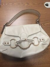 Gucci Off white bone leather horsbit bag, preowned
