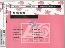 TED NUGENT spirit of the wild CD ALBUM PROMO with missprint
