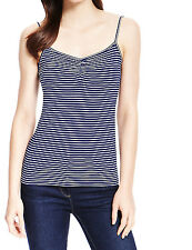 EX M&S NAVY STRIPED CAMI/VEST TOP 10,12,14,16,18,20,22 ONLY £5.99 FREE P&P