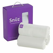 Snuz 3 Piece Baby Bedding Set For Nursery Crib - Fitted Sheets - Blanket