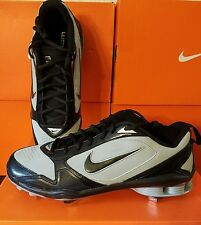 NEW NIKE SHOX FUSE 2 Baseball Cleats Spikes MENS 13 Metal Pro Gray Black $110