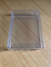 CARD CASE PLASTIC CLEAR PROTECTOR FOR 1 DECK PLAYING CARDS POKER SIZE COLLECTOR