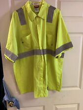 Red Kap High Visibility Hi Vis Safety Uniform 2XL Short Sleeve 3 For $22 2XL-SS